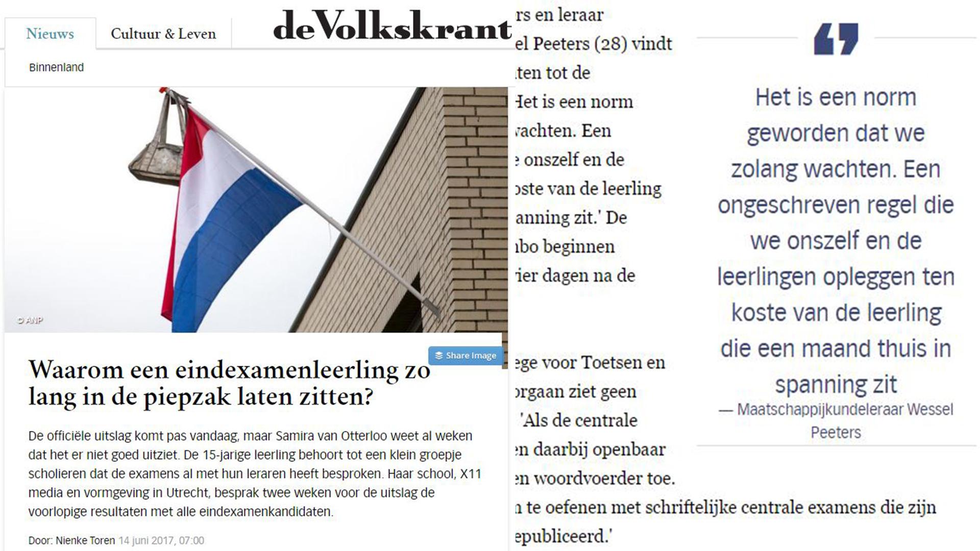 Interview Volkskrant en Trouw