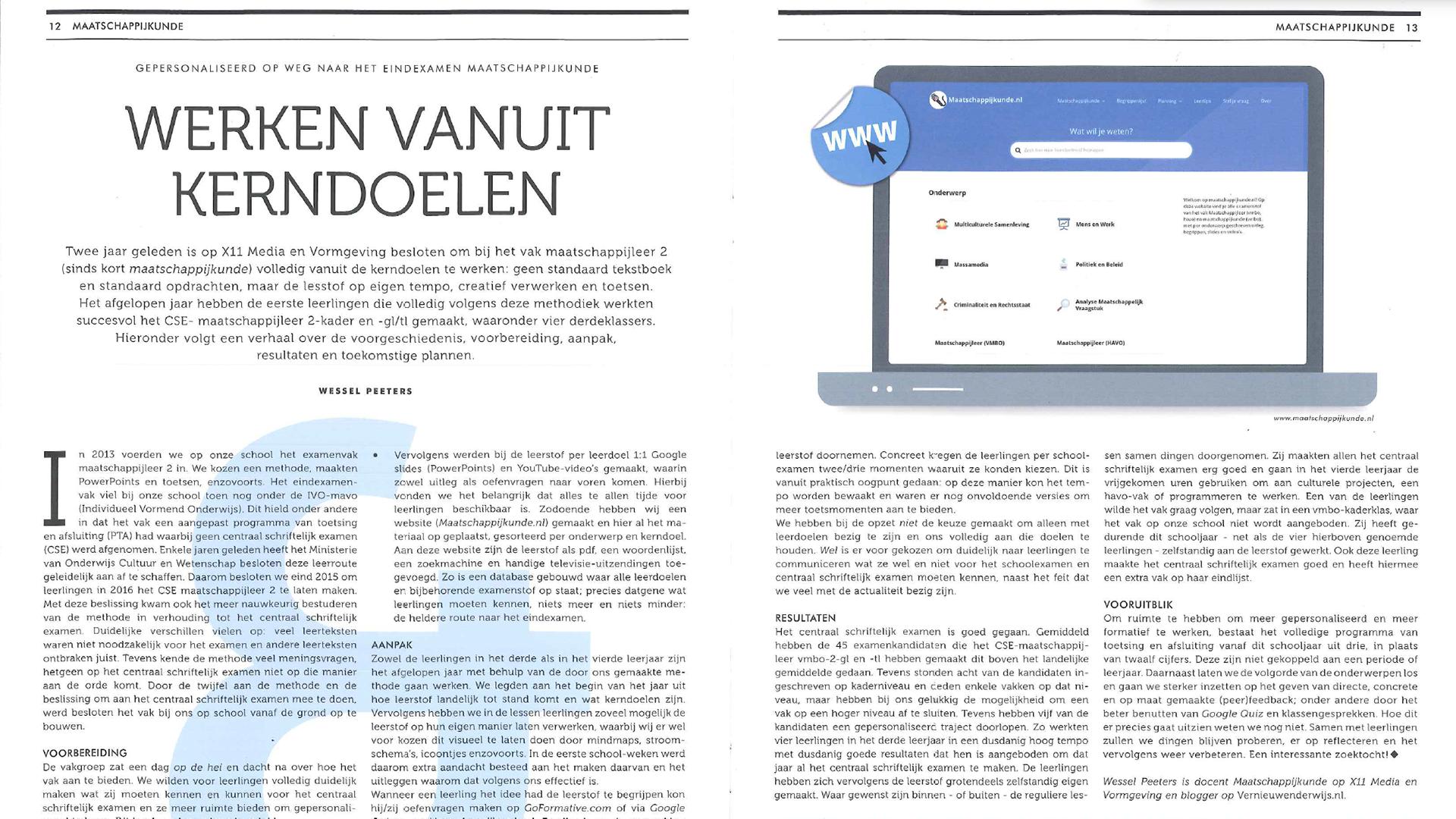 Interview vakblad M&P